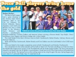 Cheryl is featured in the Pepplecreek Press displaying her medal with her teammates.