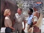cheryl miller as paula tracy and marshall thompson as daktari with elephant