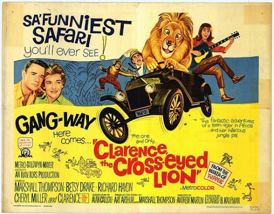 clarence the cross-eyed lion movie poster