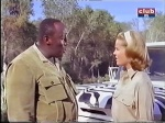cheryl miller as paula tracy with zebra land rover on daktari