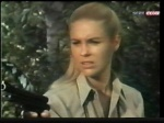 cheryl miller as paula tracy with gun on daktari season three