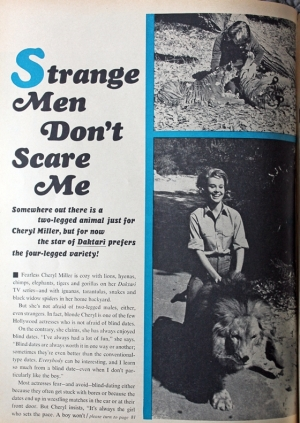 cheryl miller article in motion picture nov. 1966-1