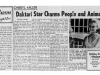Cheryl Miller: Daktari Star Charms People and Animals (from the Desert Sun, April 1966)
